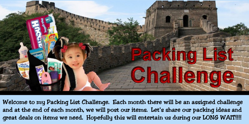 Packing List Challenge